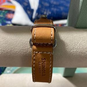 Shinola tan leather bracelet